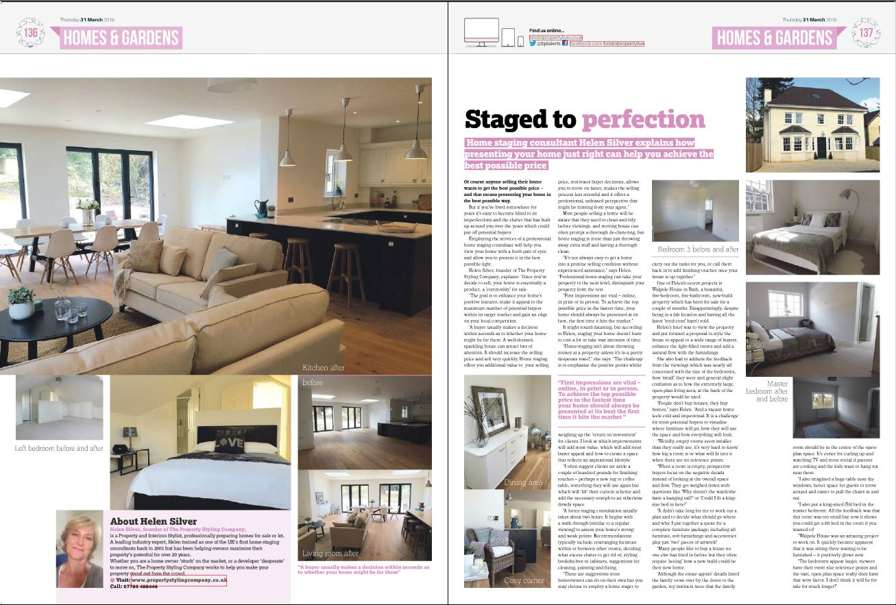 Bristol Property Staged to Perfection Property Styling Company