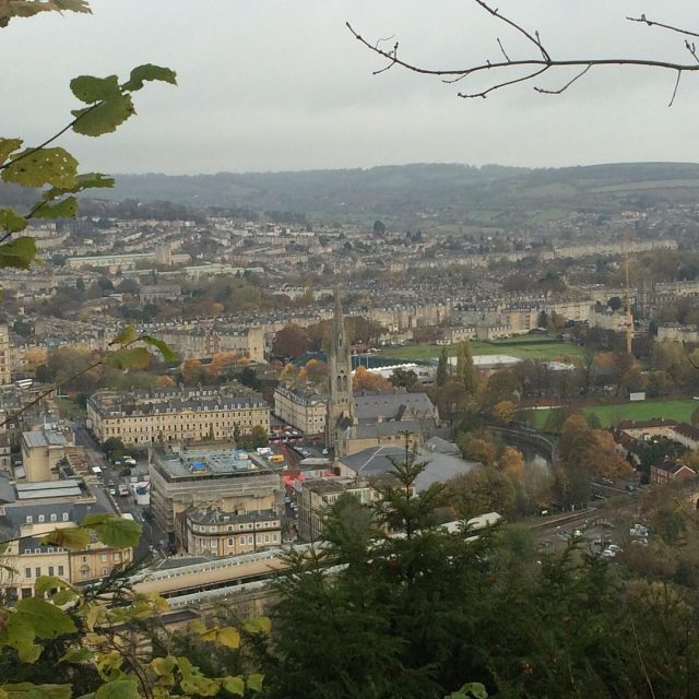 This mornings view through the trees City of Bath Bathhellip