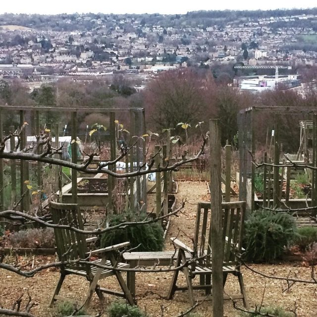 How lucky is this allotment owner? Great view over BathSpahellip